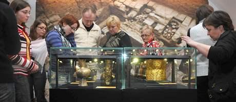 Výstava Zlato Inků na Špilberku, která byla pro velký zájem prodloužena.