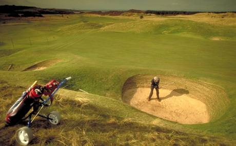 Golf ve Velké Británii. Ilustrační foto