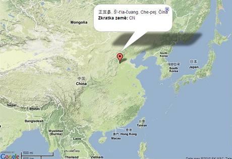 mapa čeng-ting