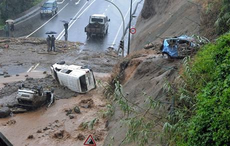 Lijáky si na portugalské Madeiře vyžádaly desítky mrtvých a raněných (20. února 2010)