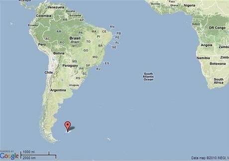 mapa falklandy