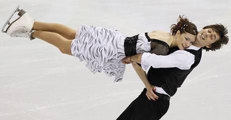 Český taneční pár Kamila Hájková a David Vincour na olympijských hrách