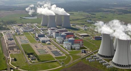 Jaderná elektrárna Temelín po rošíření o dva bloky.