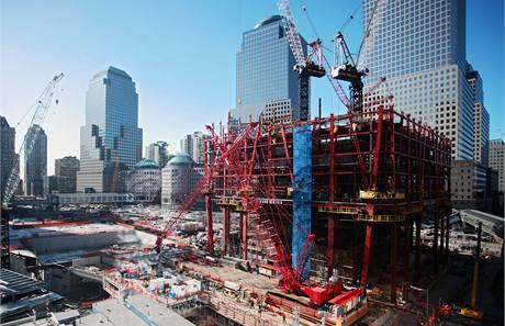 Současný stav prací na Ground Zero v New Yorku.