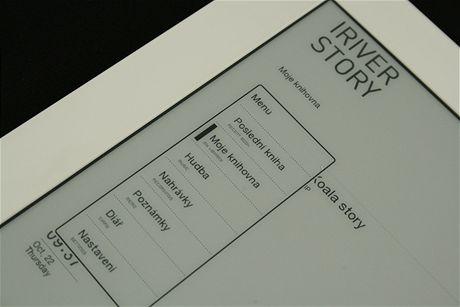 iRiver Story - menu
