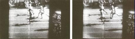 Záběr z Kirbyho kamery umožnil poprvé změřit čas jednotlivým běžcům