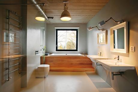 Litá podlaha koupelna