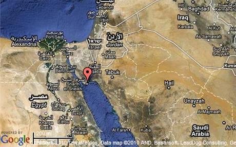 Mapa Sinajského poloostrova