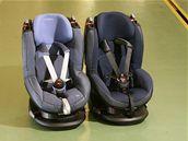 Kromě zbrusu nového exempláře sedačky Maxi Cosi Tobi jsme do srovnání zařadili i identickou, ale dva roky intenzívně používanou sedačku.