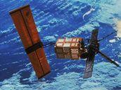 Družice Envisat, která pokles ozonu změřila.