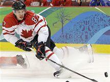 Kanadský útočník Sidney Crosby v zápase proti Rusku.
