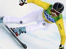 Německé lyžařka Maria Riesch při závodu Super-G na ZOH ve Vancouveru.
