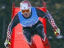 Výškařka Blanka Vlašičová se raduje poté, co laťka zůstala na svém místě.