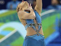 Joannie Rochetteová z Kanady během své volné jízdy v závodu krasobruslařek na ZOH ve Vancouveru.