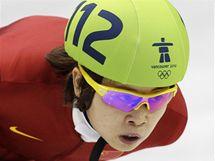 ZLATÁ JÍZDA. Čínská reprezentantka Wang Meng si jede pro vítězství v závodě na 1000 metrů.