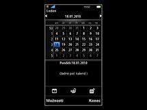 Sony Ericsson Vivaz (uk�zka opera�n�ho syst�mu)