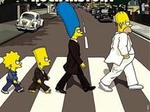 Ikonickou fotografii Abbey Road se členy skupiny Beatles rozpoznáme kdykoli, zde se jí inspirovali Simpsonovi.