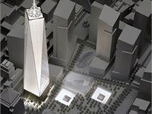 Vizualizace, jak bude v budoucnu vypadat Ground Zero v New Yorku.