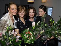 Lucie Kachtíková, Hanka Kynychová, Zlata Adamovská a Eva Jasanovská