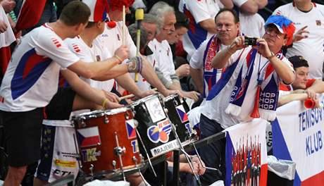 Čeští fanoušci na Davis Cupu v Belgii