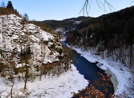 Údolí Sázavy u Luk pod Medníkem