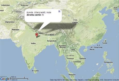 Indie, mapa, Uttarpradeš