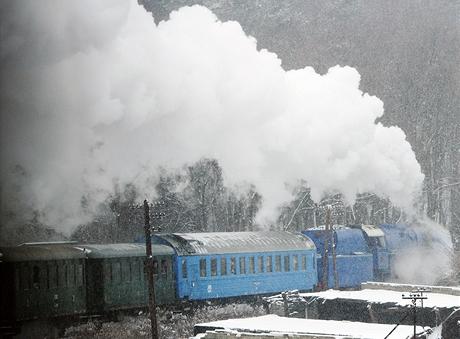 Zvláštní vlak vypravený k příležitosti 160 výročí narozenin prezidenta Masaryka