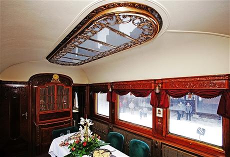 Reprezentativní salonek Masarykova železničního vozu
