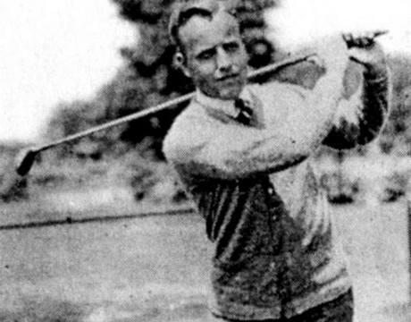 James D. Standish, dvojnásobný vítěz amatérského mistrovství Rakouska v Karlových Varech, na fotografii z roku 1915.