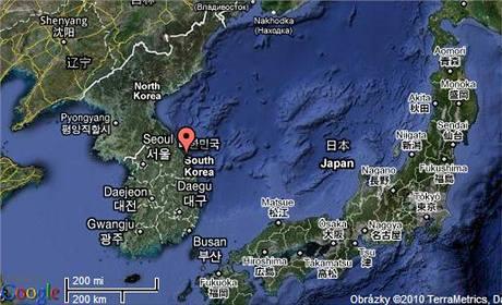 Mapa Jižní Koreje