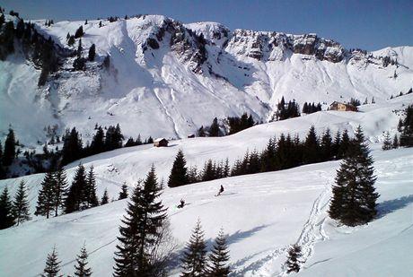 Rakousko, Bregenzerwald. Warth je rájem freeridu