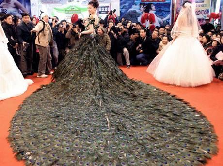 Výstřední svatební šaty v hodnotě 1,5 mil. dolarů zdobené ...