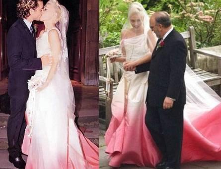 Svatební šaty Gwen Stefani navrhl John Galliano