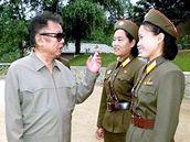 Kim Čong-il má kolem sebe rád krásné ženy.