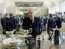 Prezident Václav Klaus zahájil výstavu ke 160. výročí narození prvního československého prezidenta T. G. Masaryka nazvanou Život TGM na Hradě - všední i sváteční. (2. března 2010)