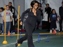 Michelle Obamová propaguje pravidelný pohyb