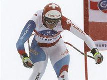 Švýcarská lyžařka Marianne Abderhaldenová ve sjezdu v Crans Montaně.