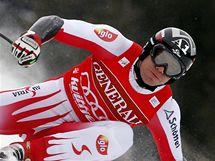 Rakouský sjezdař Michael Walchhofer během super-G v norském Kvitfiellu