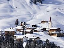 Rakousko, Bregenzerwald. Pohled na Warth