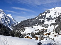 Rakousko, Bregenzerwald. Warth Schröck