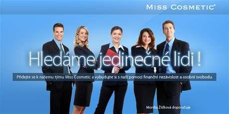 Přidejte se k našemu týmu Miss Cosmetic a vybudujte si s naší pomocí finanční nezávislost a osobní svobodu.