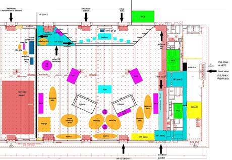 Mapa pavilonu P na vystoupen� Paula van Dyka v Brn� postar� Grupo Calliente