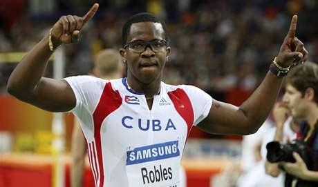 Kubánský překážkář Dayron Robles, halový mistr světa