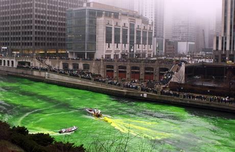 Oslavy Dne sv. Patrika v Chicagu. (13. března 2010)