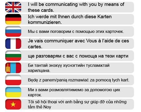 Zdravotní jazykové a komunikační karty, které mají usnadnit cizincům komunikaci u lékaře