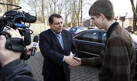Jiří Paroubek s redaktorem MF DNES.