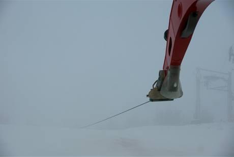 Odvíjení posledních 50 metrů lana signalizuje akustická ochrana