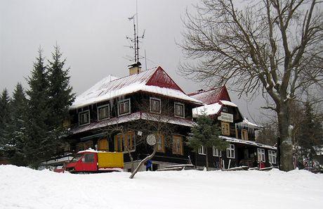 Těšínské Beskydy. Turistická chata Slavíč