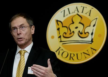 Jan Švejnar na fóru Zlaté koruny