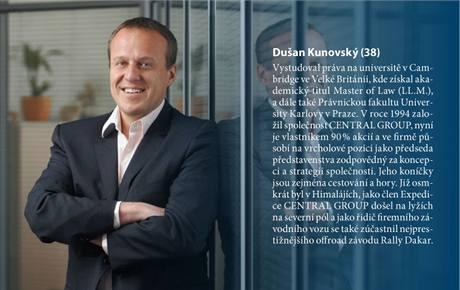 Dušan Kunovský, šéf společnosti CENTRAL GROUP